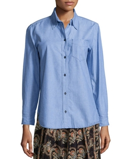 Isabel Marant Etoile - William Chambray Button-Down Top