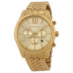Michael Kors  - Lexington Chronograph Champagne Dial Mens Watch