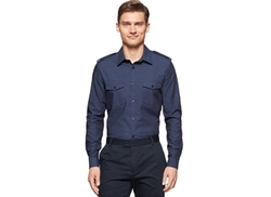 Calvin Klein  - Double Pocket Long-Sleeve Button-Down Shirt