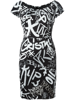 Moschino   - Graffiti Print Dress
