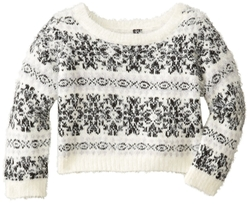 Jessica Simpson  - Feather Cropped Popover Sweater