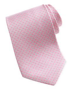 Salvatore Ferragamo  - Micro-Gancini-Print Silk Tie