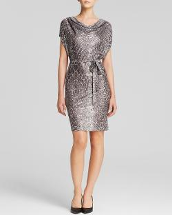 Grayse - Snake Print Belted Dress