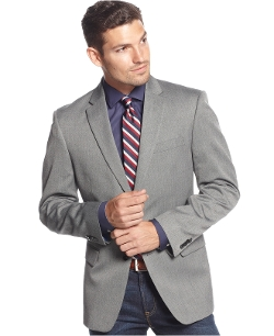 Tommy Hilfiger - Trim-Fit Tonal Herringbone Sport Coat