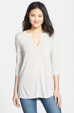 Lucky Brand - Split Neck Pocket Tunic