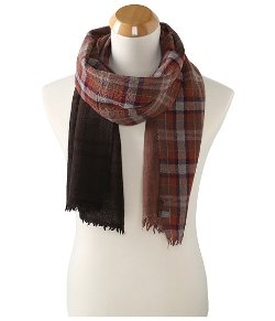 Echo - Dip Dye Plaid Scarf