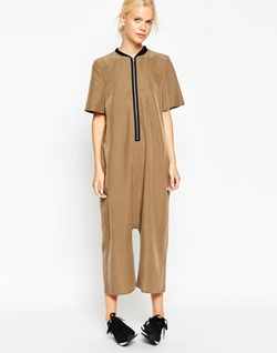 Asos Collection - Minimal Zip Through Jumpsuit