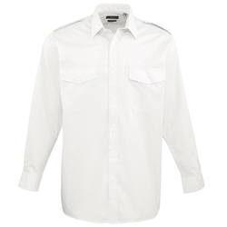 Premier - Long Sleeve Pilot Plain Work Shirt