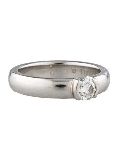 Tiffany & Co. - Solitaire Diamond Band Ring