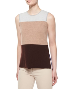 Derek Lam - Sleeveless Colorblock Top