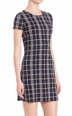 Theory  - Branteen Plaid Shift Dress