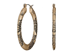 Sam Edelman - Snake Textured Hoop Earrings