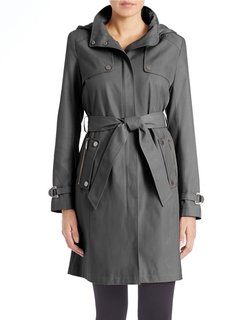 DKNY - Belted Trench Coat