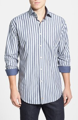Thomas Dean - Regular Fit Stripe Sport Shirt