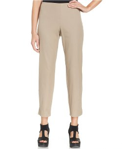 Eileen Fisher  - Slim-Fit Side-Zip Ankle Pants