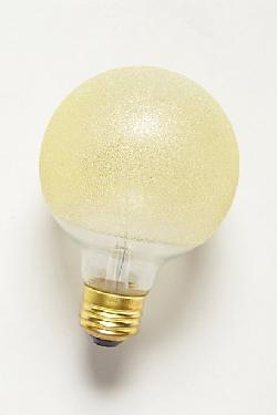 Anthropologie - Etched Amber Light Bulb