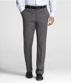EXPRESS - GRAY STRETCH WOOL PRODUCER SUIT PANT
