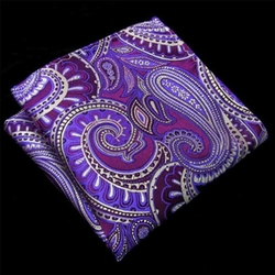 Shlax & Wing  - Purple Paisley Pocket Square