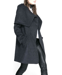 Chicnova - Woolen Cloth Long Sleeves Single-breasted Dust Coat