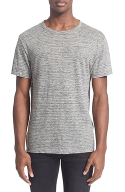 T by Alexander Wang - Stripe Linen T-Shirt