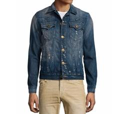 True Religion  - Jimmy Western-Style Distressed Denim Jacket