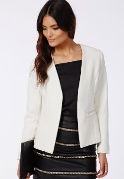 Amander  - Tailored Blazer White