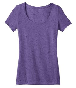 District Made  - Ladies Textured Scoop Neck T-Shirt
