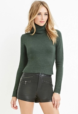 Forever 21 - Contemporary Textured Turtleneck Sweater