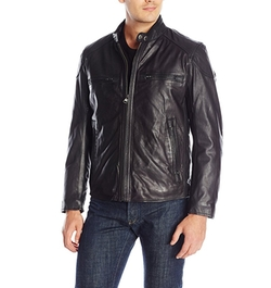 Marc New York by Andrew Marc - Mac Calf-Leather Moto Jacket