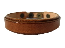 Hera - Light Brown Leather Wristband