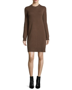 Michael Kors Collection - Long-Sleeve Cashmere Sheath Dress