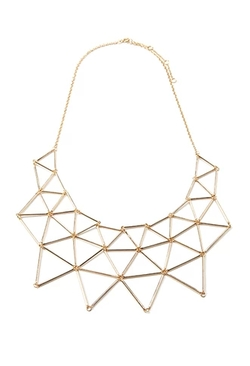 Forever 21 - Cutout Geo Bib Necklace
