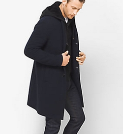 Michael Kors Mens - Double-Face Donegal Wool-Blend Coat