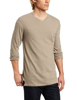 Alternative - Raymond Striped V-Neck Tee Shirt