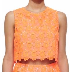 A.L.C. - Adriana Floral-Lace Crop Top