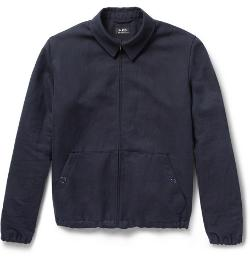 A.P.C.   - Woven Linen and Cotton-Blend Bomber Jacket