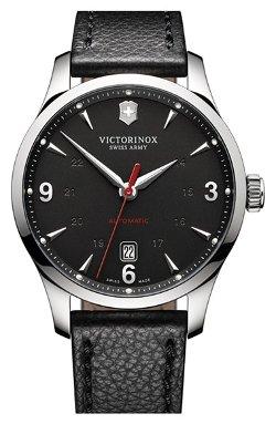 Victorinox Swiss Army - Alliance Round Leather Strap Watch