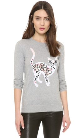 Markus Lupfer  - Cat Embellished Natalie Sweater