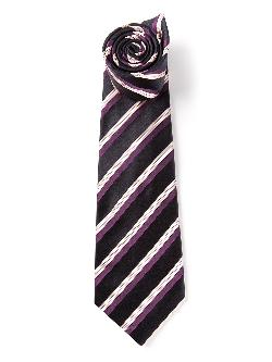 KITON  - striped tie