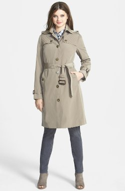 London Fog - Quilt Flap Trench Coat