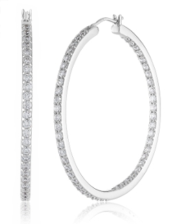 Myia Passiello - Swarovski Zirconia Clear Hoop Earrings