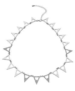 Max And Chloe - Blu Bijoux Triangle Collar Necklace
