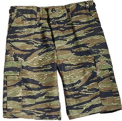 Army Universe  - Tiger Stripe Camouflage Cargo Shorts