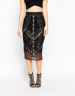 Asos Collection - Embellished Pencil Skirt