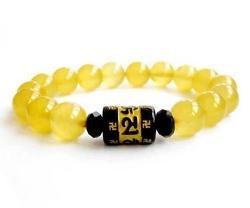 Qzoxx - Natural Crystal Agate Bead Bracelet