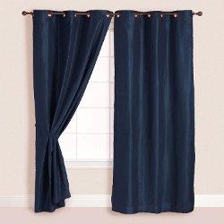 HGS - Faux Suede Metal Grommet Curtain