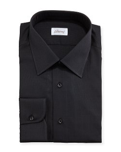 Brioni   - Textured Grid-Check Shirt