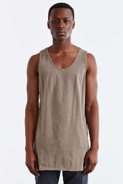 Urban Outfitters - Feathers Long Vent Tank Top
