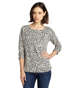 Willow & Clay  - Leopard Print Cotton Blend Sweater