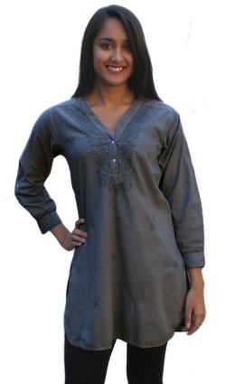 Ayurvastram - Kurti Pure Cotton Shirt Tunic Top